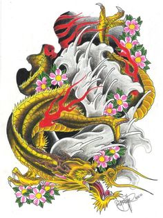 Golden Dragon  by ~ryanschipper89