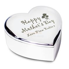 Personalised Mothers Day Heart Trinket Box  from Personalised Gifts Shop - ONLY £14.95