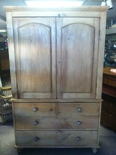 Gorgeous Antique Primitive Pickle Pine Cupboard by Chichesters, $1895.00