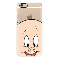 iPhone 6 Plus/6/5/5s/5c Case - Porky Pig Portrait ($40) ❤ liked on Polyvore featuring accessories, tech accessories, phone cases, cases, phones, iphone case, iphone cover case, apple iphone cases and slim iphone case