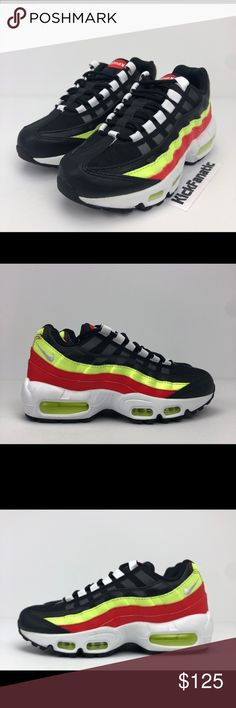 check out 18356 672f9 Nike Air Max 95 Womens Black White OG Colorway Nike Air Max 95 Womens  307960-