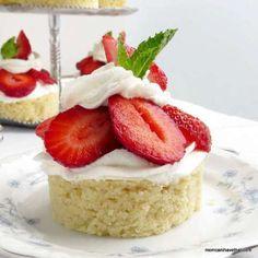 Low Carb Strawberry Almond Shortcake - cake version | Low Carb Maven