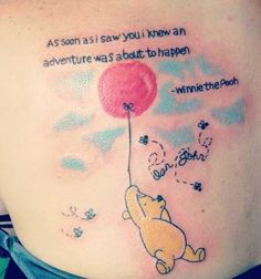 Winnie the Pooh tattoo- makes a good picture with quote to hang on baby's wall