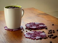 Grape shaped coasters Enjoy chilean wine