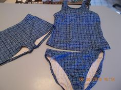 Lands End Womens 3pc Tankini Set Swimsuit-Boyshorts-Brief Bikini Bottom  #LandsEnd #3Piece