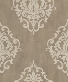 Marble Damask (20087) - Albany Wallpapers - A grand scale damask, shown on a complimenting marble background. Shown here in metallic gilver and white. Other colourways are available. Please request a sample for a true colour match. Paste-the-wall product