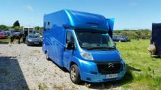 Aeos horsebox working hard. Oceanic metallic blue from our commercial #sprayshop #HorseHour   #horseboxesforsale