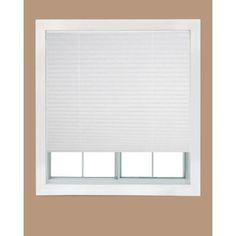 Redi Shade White Fabric Corded Light Filtering Pleated Shade - 36 in. W x 72 in. L-2302495 - The Home Depot