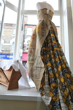 @stagandbow Shop Window Display for Forest Hill Fashion Week showcasing dress by @reddskinuk   Photo by John Russell  http://johnrussell.zenfolio.com/