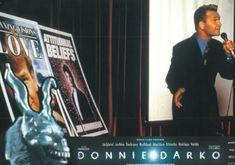 BROTHERTEDD.COM - Donnie Darko lobby cards Donnie Darko, Broadway Shows, Cards, Maps, Playing Cards