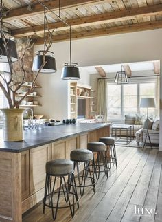 This Contemporary Kitchen Is At The Center Of U Shaped Apartment Forming A