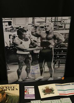 """Autographed memorabilia incl """"Muhammad Ali"""" with COA by GFA, """"Superstar Billy Graham"""" 20"""" x 16"""" with COA by JSA, """"Goose Gossage"""" signed celebrity golf tournament scorecard with COA by JSA, 2008 """"Elite"""" football cards set 1 - 100, """"Henry Hill"""" signed copy of """"Gangster Movies by Harry Hossent"""" with JSA sticker, 1948 """"George Vico"""" baseball card with """"EMC Grading"""" VG+, 1950 """"Hopalong Cassidy Silent Conflict"""" with """"EMC Grading"""" of """"Authentic"""", and 1966 """"Topps"""" baseball card of """"Jake Gibbs"""" with…"""
