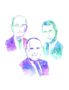 My original watercolor of the LDS First Presidency (President Monson, Dieter F Uchtdorf and Henry B Eyring) painting printed on HQ 100# matte poster paper OR you have the option to print on Fine Art T