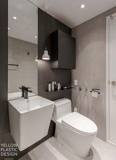 B&W 시크한 싱글하우스 _이촌동 한가람 아파트 85㎡ 25평형 아파트인테리어_[옐로플라스틱/yellowplastic/d옐로우플라스틱] : 네이버 블로그 Color Interior, Interior Design, Bath Room, Korean Style, Colorful Interiors, Toilet, Space, Kitchen, Nest Design