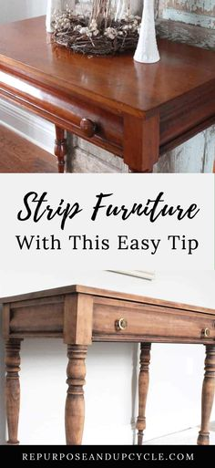 Sanding Furniture, Refinish Wood Furniture, Cheap Furniture Makeover, Wood Refinishing, Diy Furniture Projects, How To Paint Furniture, Stripping Paint From Wood, Refinished Desk, Reclaimed Furniture