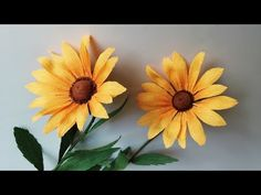 ABC TV | How To Make Rudbeckia Paper Flower From Crepe Paper - Craft Tutorial - YouTube