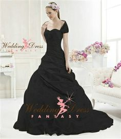 Black Wedding Dress from WeddingDressFantasy.com