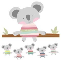 Koala Clip Art Illustration for Personal or Commercial use by Collective Creation $4.00