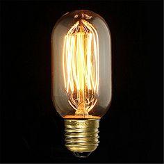 KINGSO E27 40W 220V T45 Edison Lampe Warmweiß Vintage Sti…