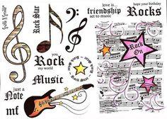 Rock 'N Roll - Rubber Stamp Set [00-428P4]