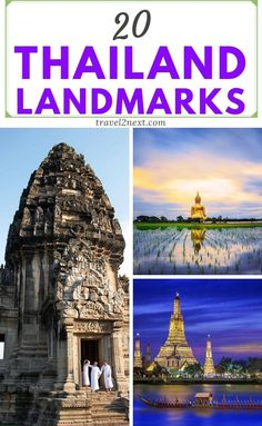 20 Thailand landmarks for your bucket list. The Khmer Empire stretched out to Thailand making Phimai an awesome landmark in Thailand to visit. Erawan National Park, Doi Inthanon National Park, National Parks, Travel Usa, Travel Tips, Travel Packing, Travel Ideas, Places To Travel, Places To Visit