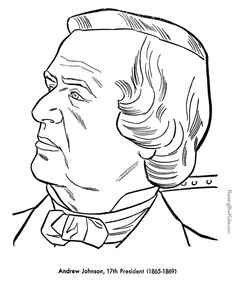 free printable president andrew johnson coloring pages