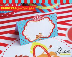 Carnival Food Labels for Carnival Birthday Party. Instant Download Circus Labels Printables. DIY Circus Food Tent Labels. Editable Text.