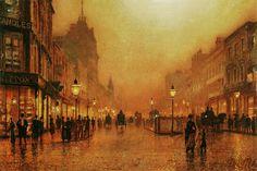 Bild:  John Atkinson Grimshaw - A Street at Night