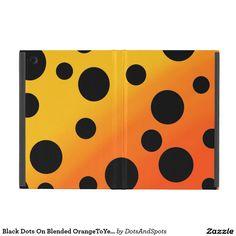 Black Dots On Blended OrangeToYellow Cover For iPad Mini