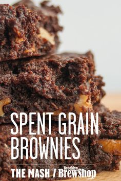 Rich, chocolatey brownies get a nutty kick with the addition of spent grain flour and walnuts.