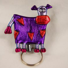 Shop for on Etsy, the place to express your creativity through the buying and selling of handmade and vintage goods. Id Holder, Badge Holders, Purple Cow, Friendly Plastic, Crafts To Sell, Farm Animals, Jewlery, Diys, Things To Sell