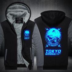 High-Q Unisex Winter Tokyo Ghoul kaneki ken Jacket casual Cardigan Hoodie lovers Tokyo Ghoul Cardigan Hoodie jacket coat