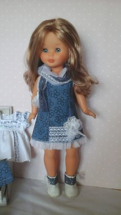 Vestidos para nancy, outfits para nancy Girl Doll Clothes, Girl Dolls, Nancy Doll, Beautiful Dolls, Kids Fashion, Little Darlings, Flower Girl Dresses, Rompers, Summer Dresses