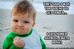 Rock on fellow Sober Soldiers #likeaboss #sobriety