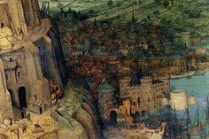 Tower of Babel - Detail -. High quality vintage art reproduction by Buyenlarge. One of many rare and wonderful images brought forward in time. I hope they bring you pleasure each and every time you lo
