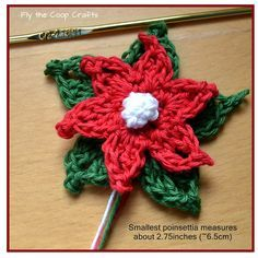 10 FREE poinsettia crochet patterns. This beautiful bold flower is symbolic of the Christmas holidays, and a crochet poinsettia makes a perfect addition to seasonal decor.
