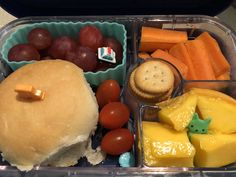 Laith's favourite lunch yet, of course because it has mangoes!