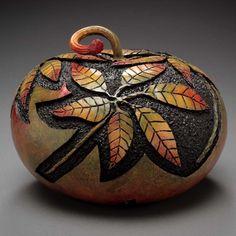 Custom Carved Gourds by Marilyn Sunderland.