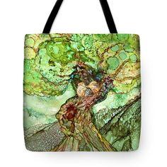 Turtle Dove Tree Tote Bag by Carol Cavalaris
