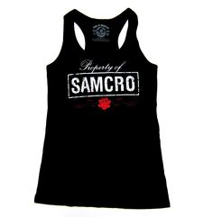 Want one! Sons of Anarchy - Ladies Racer Back Tank Top - BikerOrNot Store