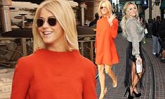 Julianne Hough and Aubrey O'Day spotted at The Grove
