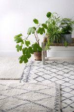 Ellos Home Ryamatta Tanger 200x290 cm Vitgrå/grå, Cremevit/mörkbrun - Lugg & ryamattor | Ellos Mobile