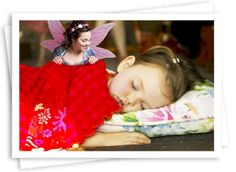 1.Click on picture until website appears  2.Upload a photo of your sleeping child.  3.Pick your fairy.  There are 20 fairy poses, and you can position her in the photo any way you want.  4.Add a custom border if you would like.  5.Use code Fairy-Proof at checkout.  You must type in the code.  It won't work if you copy and paste it.   6.Print, share or save your photo!