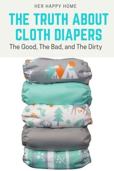 The Truth About Cloth Diapers The Good The Bad and The Dirty cloth diapers best cloth diapers how to cloth diapers cloth diaper facts cloth diapers wash cloth diapers poop Wash Cloth Diapers, Diy Diapers, Reusable Diapers, Cloth Nappies, Cloth Diaper Storage, Washable Nappies, Diaper Liners, Baby On A Budget, Disposable Diapers