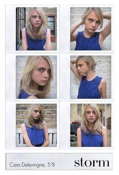 Cara Delevingne 🎀 her head shots for Storm Management