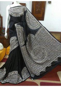 Indian Designer Dresses & Traditional Clothes Online Shopping in USA Phulkari Saree, Silk Sarees, Indian Attire, Indian Outfits, Indian Wear, Kurta Designs, Blouse Designs, Saree Painting Designs, Sari Design