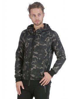 Men's Premium Full Zip Up Hoodie Classic Zipper Hooded Sweatshirt Camo Large New #Unbranded #Hoodie