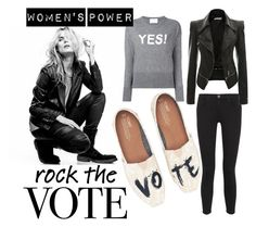 """""""I've got the power"""" by anatoraya ❤ liked on Polyvore featuring Superfine, TOMS, Current/Elliott and Allude"""