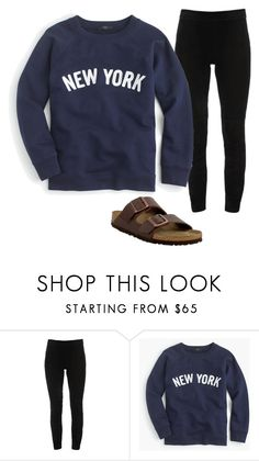 """""""lazy dayzz"""" by hannahdowns14 on Polyvore featuring Elie Tahari, J.Crew and Birkenstock"""