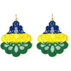 Tita' Bijoux Brazil Oleandro Lace Earrings